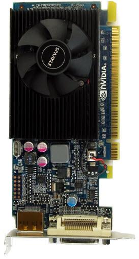GEFORCE 210 1GB DMS59 X16 PCIE Top View