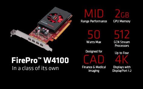 AMD FirePro W4100 100-505979 2GB 128-bit GDDR5 PCI Express 3 0 x16 Half  Height Workstation Video Card - Newegg com