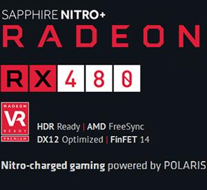Beyond HD Gaming. A Premium Choice for VR Experiences. The SAPPHIRE NITRO+ Radeon  RX 480 ...