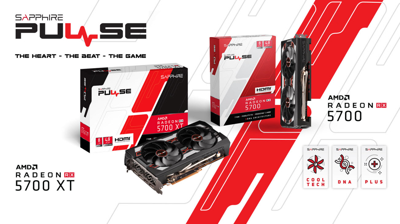 the main banner of SAPPHIRE PULSE Radeon RX 5700 XT