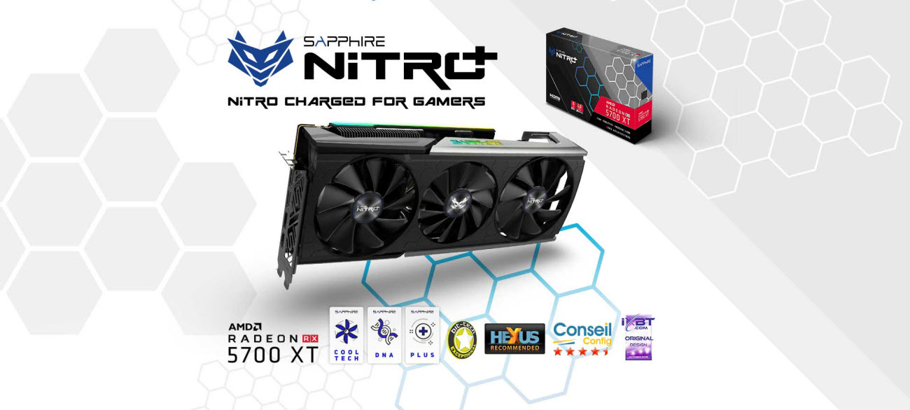 main banner for SAPPHIRE NITRO+ Radeon RX 5700 XT video card