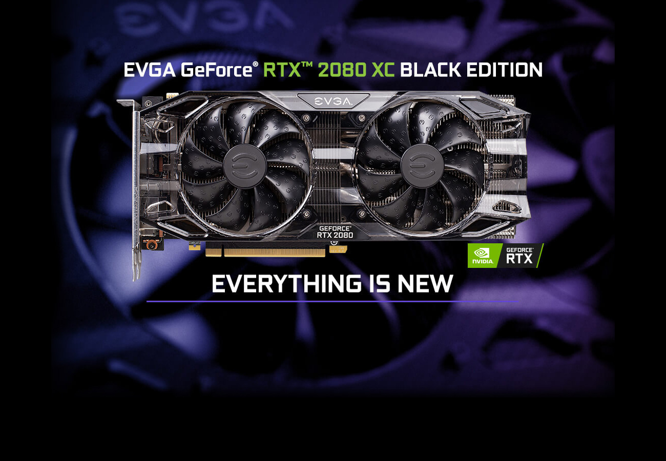 EVGA GeForce RTX 2080 BLACK EDITION GAMING, 08G-P4-2081-KR, 8GB GDDR6, Dual  HDB Fans & RGB LED - Newegg com