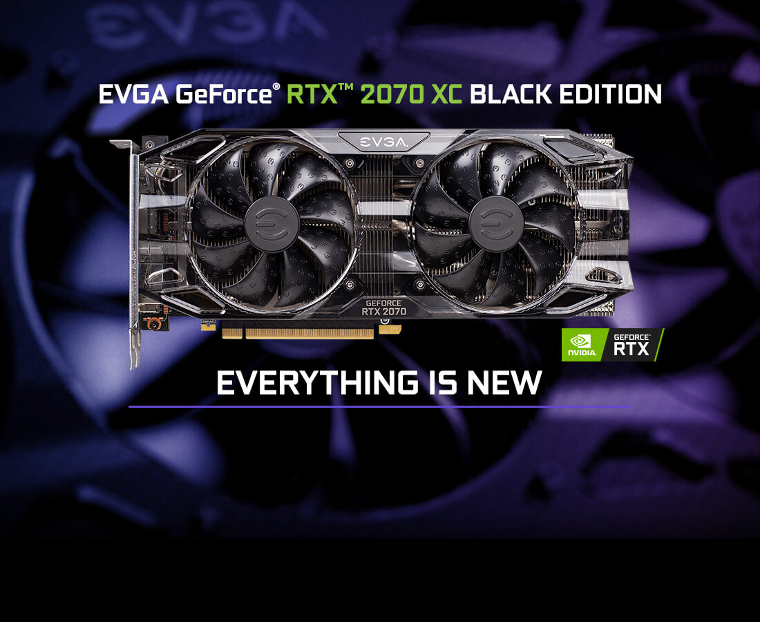 EVGA GeForce RTX 2070 BLACK EDITION GAMING, 08G-P4-2071-KR, 8GB GDDR6, Dual  HDB Fans & RGB LED - Newegg com