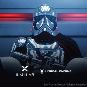 Stormtroopers form Star Wars, with armor and helmet reflecting ambient light