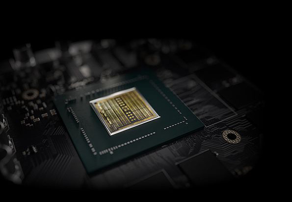 Turing processor on the graphics card