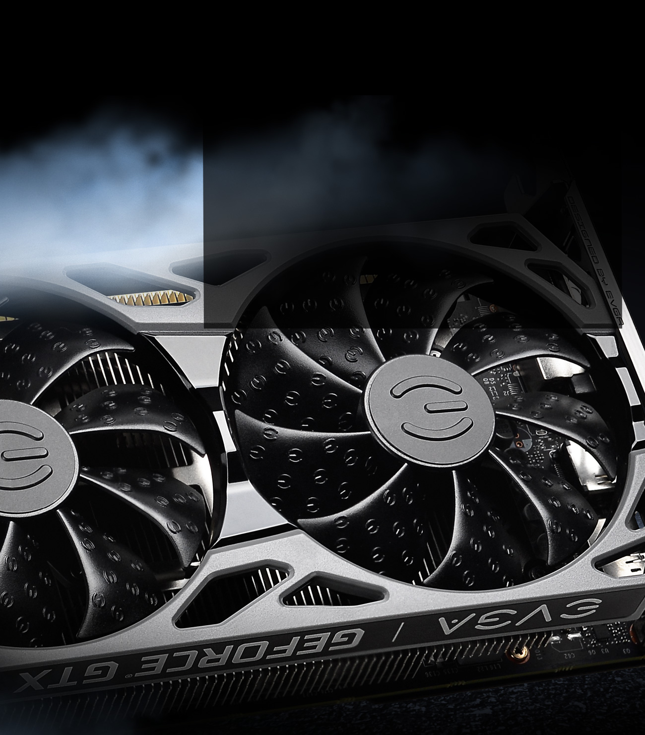 GeForce GTX 1660 SUPER graphics cards as background