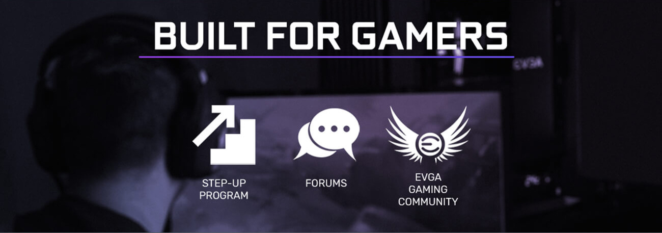 step-op program icon , forums icon, evga gaming community icon