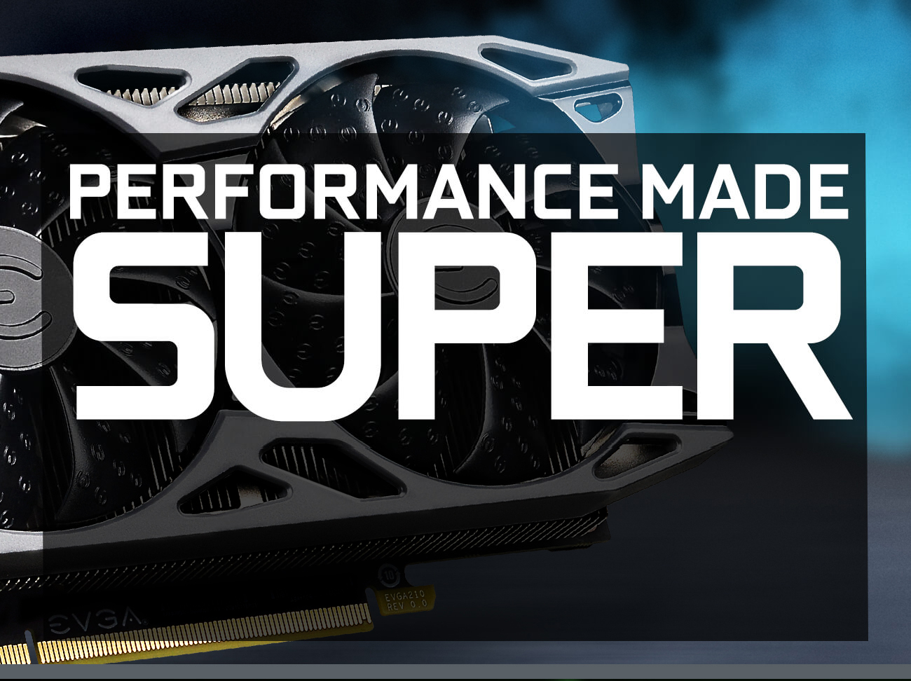 GeForce GTX 1650 SUPER gaming cards cloase-up and performance made super icon