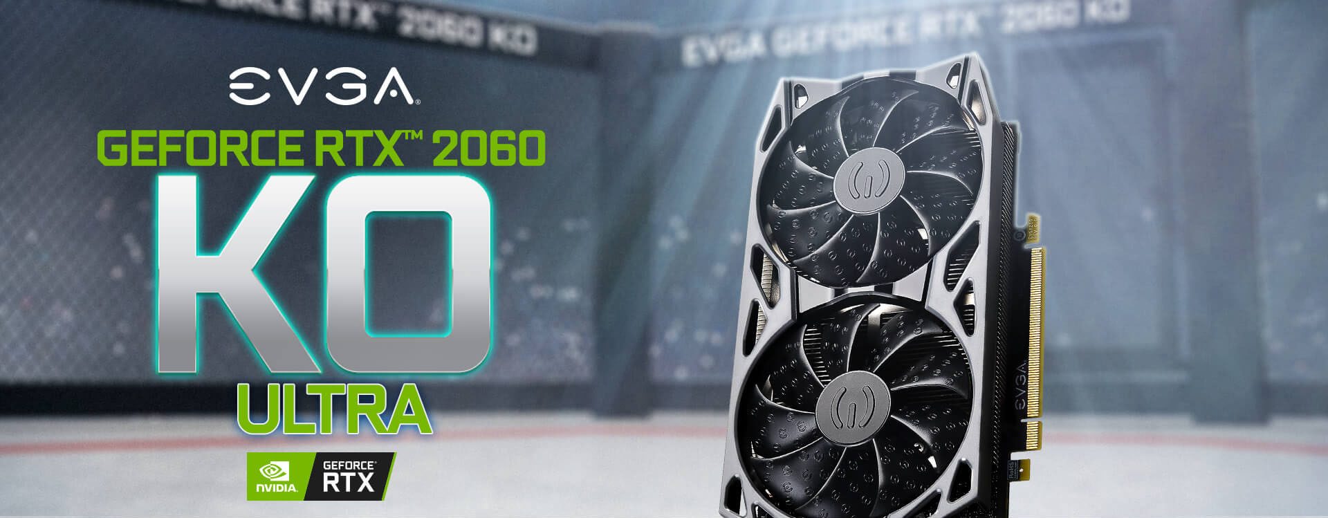 EVGA GeForce RTX 2060 KO GAMING Video Card facing forward