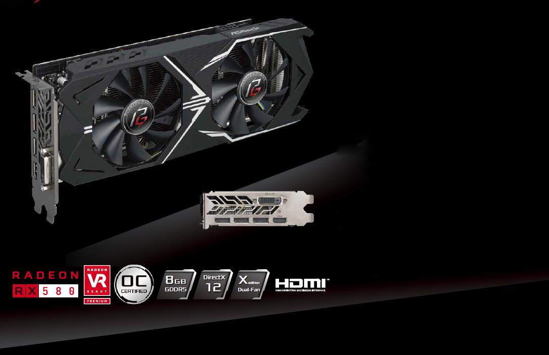 ASRock Phantom Gaming X Radeon RX 580 DirectX 12 RX580 8G OC Video Card -  Newegg com