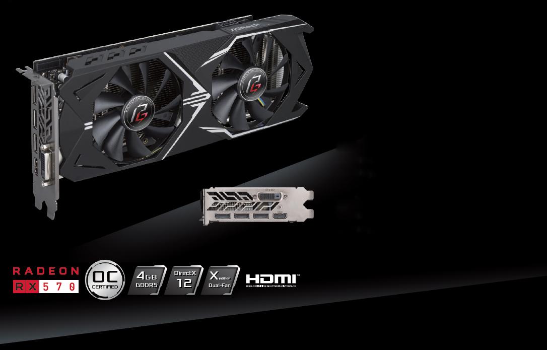 ASRock Phantom Gaming X Radeon RX 570 DirectX 12 RX570 4G OC Video