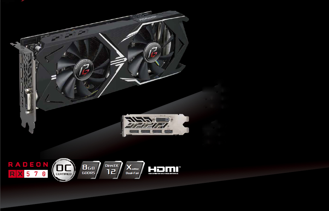 ASRock Phantom Gaming X Radeon RX 570 DirectX 12 RX570 8G OC Video Card -  Newegg com