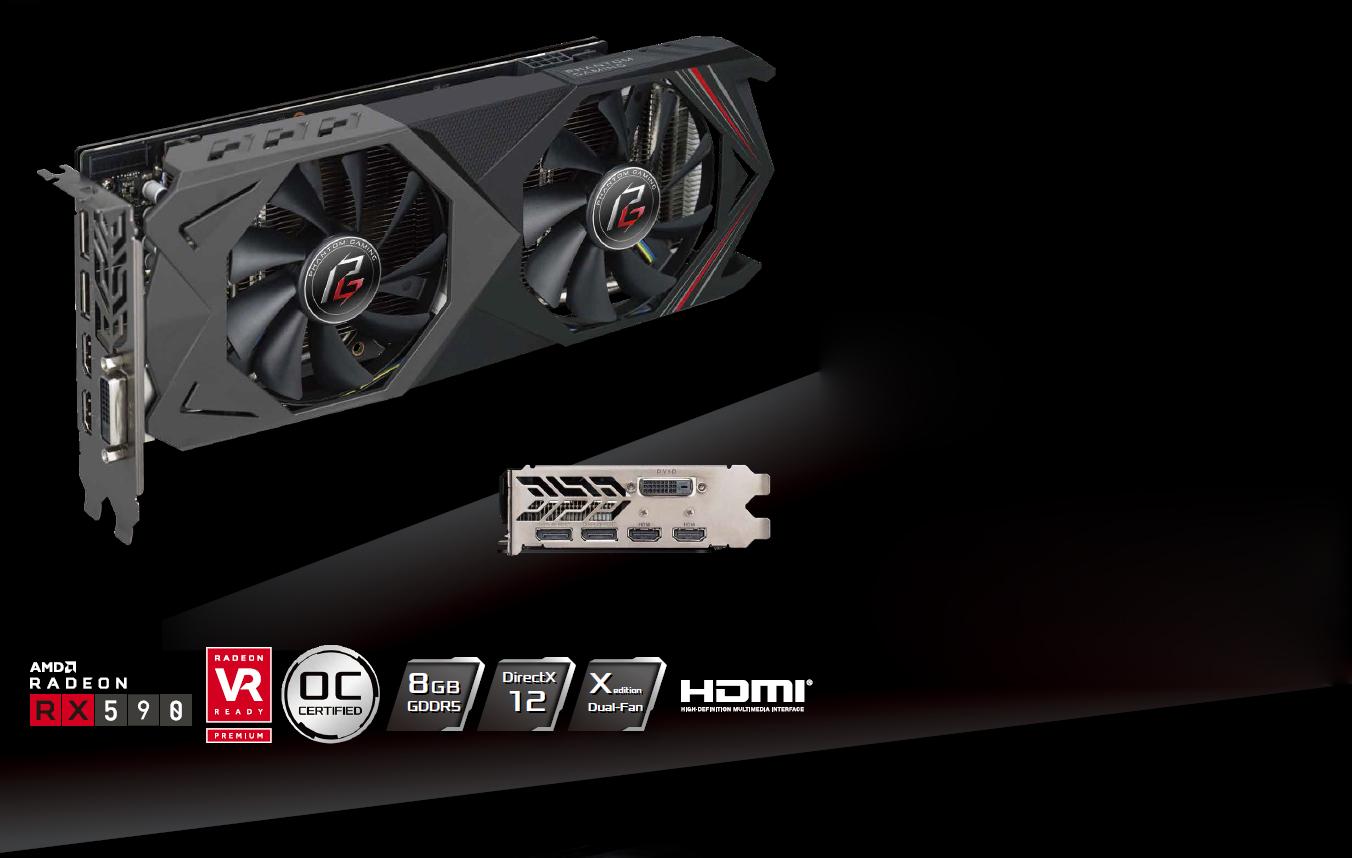 ASRock Phantom Gaming X Radeon RX 590 DirectX 12 RX590 8G OC Video Card -  Newegg com