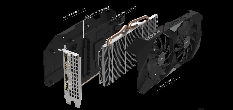 GIGABYTE GeForce RTX 2070 DirectX 12 GV-N2070WF2-8GD Video Card - Newegg com