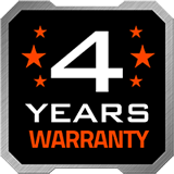 4-year warranty badge
