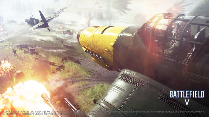 Battlefield V Screenshot Showing Aerial Warfare