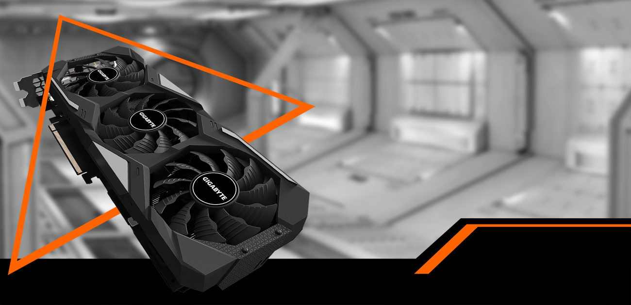 GeForce® RTX 2070 SUPER™ GAMING OC 3X 8G Graphics Card with background