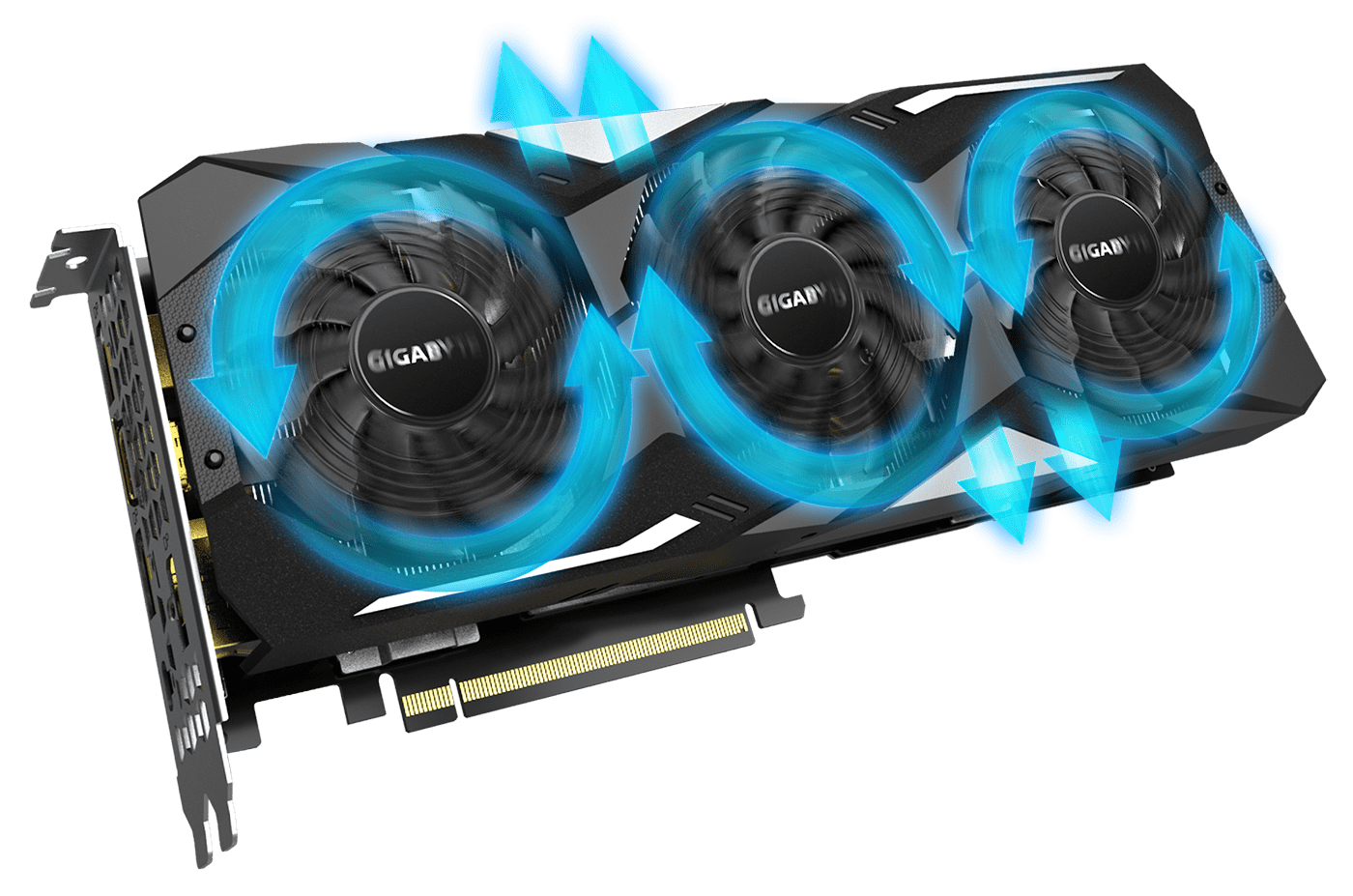 GeForce® RTX 2080 SUPER™ WINDFORCE OC 8G with the alluminum radiator