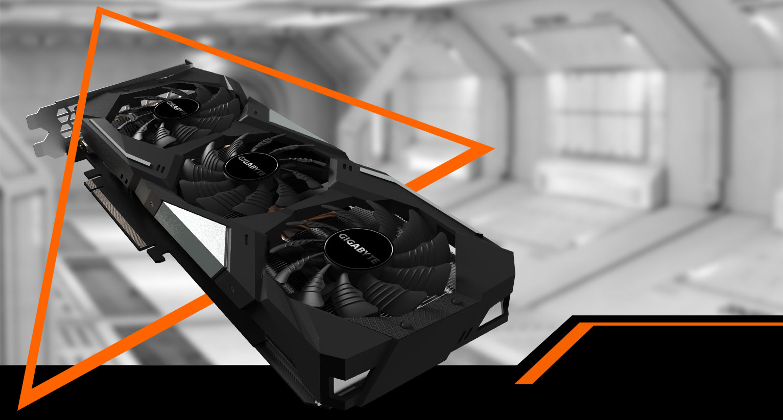 GeForce® RTX 2060 SUPER™ WINDFORCE OC 8G Graphics Card with background
