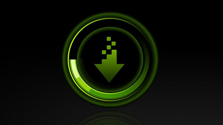 a NVIDIA driver download icon