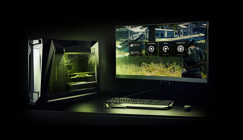 a gaming desktop using GeForce Experience to record games