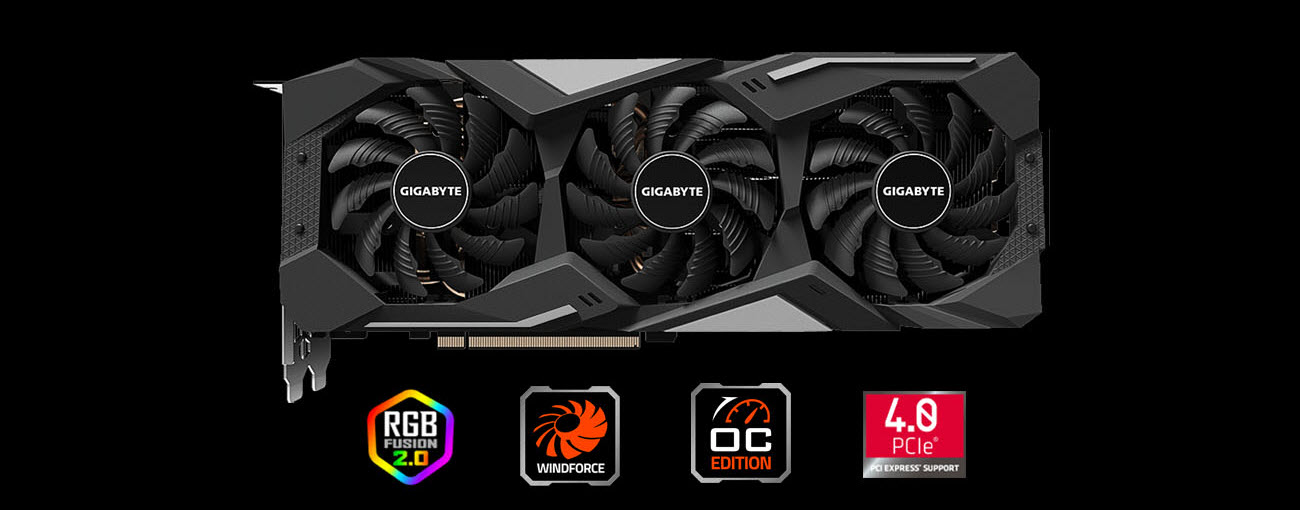 GIGABYTE Radeon RX 5500 XT DirectX 12 GV-R55XTGAMING OC-8GD Video ...