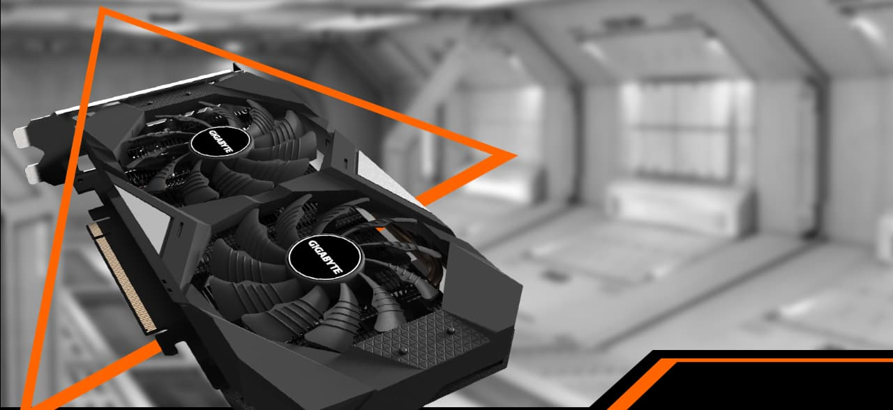 GIGABYTE GeForce RTX 2070 WINDFORCE 2X 8G with WINDFORCE 2X cooling system banner