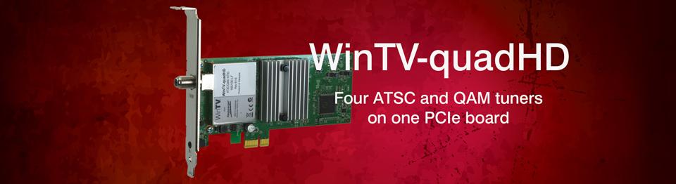 Hauppauge WinTV-quadHD (1609) Four Tuner Digital TV Receiver - Newegg com