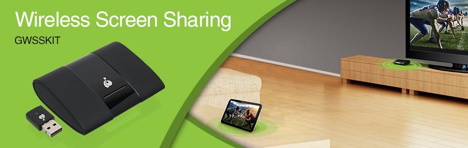 IOGEAR Wireless Screen Sharing and Miracast Kit GWSSKIT - Newegg com