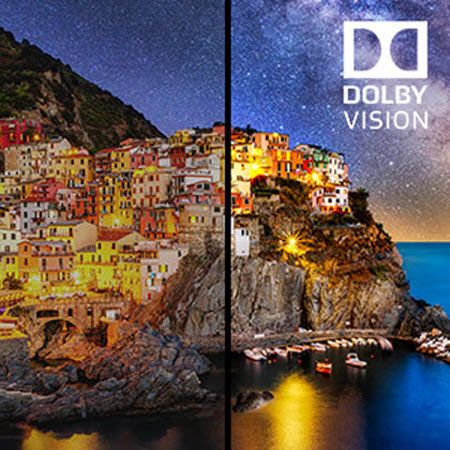 comparison of Dolby Vision On and Off