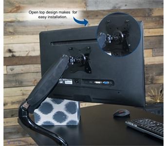 Vivo Single Lcd Monitor Desktop Mount Stand Black Height
