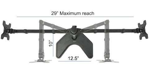 Vivo Dual Monitor Articulating Desk Stand Mount V002f