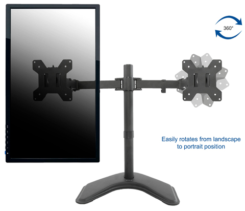 ... VIVO Dual Monitor Articulating Desk Stand Mount   STAND V002F