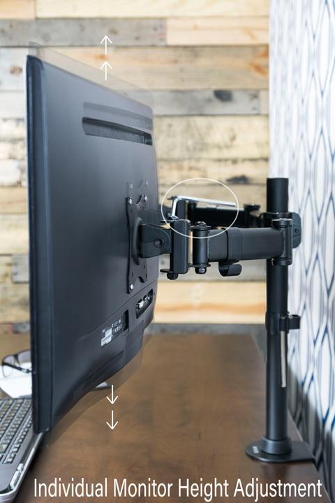 Vivo Dual Monitor Arms Fully Adjustable Desk Mount