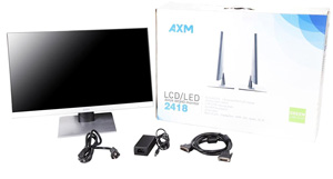 Axiom 2418 23.8inch WQHD AHVA frameless monitor