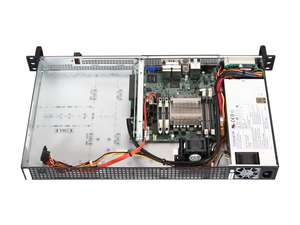 Supermicro SYS-5018A-FTN4 with Its Top Cover Removed, Angled Down