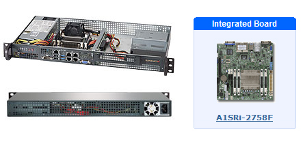 Supermicro SYS-5018A-FTN4 Rackmounts Along with an Image of the Integrated A1SRi-2758F Board