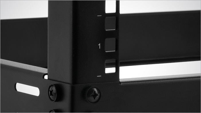 Closeup of the Rosewill RSR-2P12U002 wall mount material
