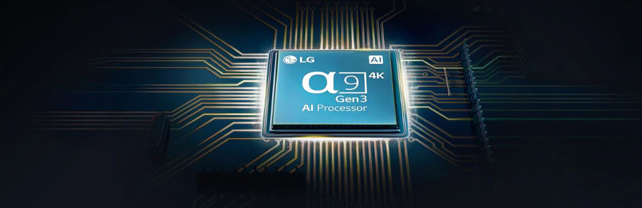 Close-up view of a9 Gen3 AI Processor 4K