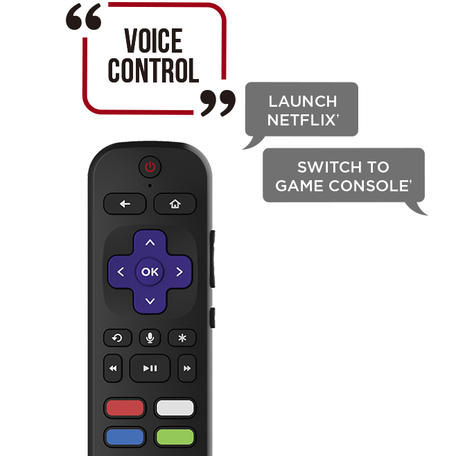 Operating the remote control with voice