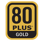 80PLUS® Gold Certified Super High Efficiency