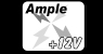 Ample +12V graphic and text