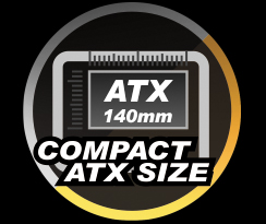 ATX 140mm COMPACT ATX SIZE icon and text