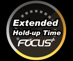 Extended Hold-Up Time Focus+ graphic and text