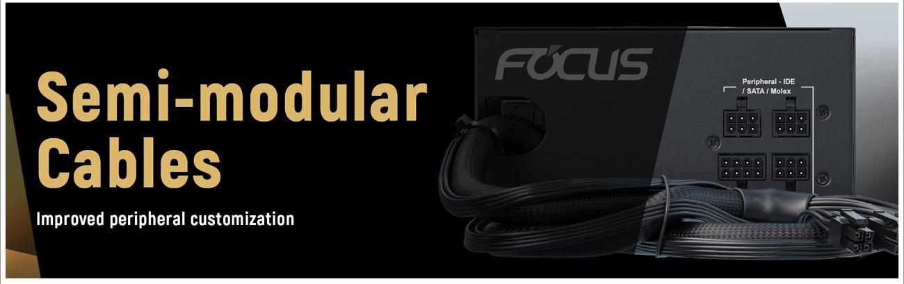 Seasonic FOCUS Semi-Modular Power Supply cables