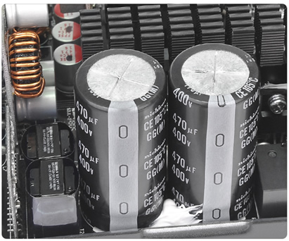 Japanese Capacitors close-up