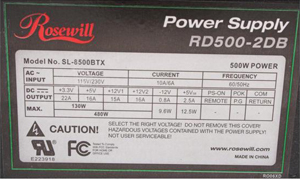 1 rosewill stallion series rd500 2db 500w atx12v power supply  at gsmx.co