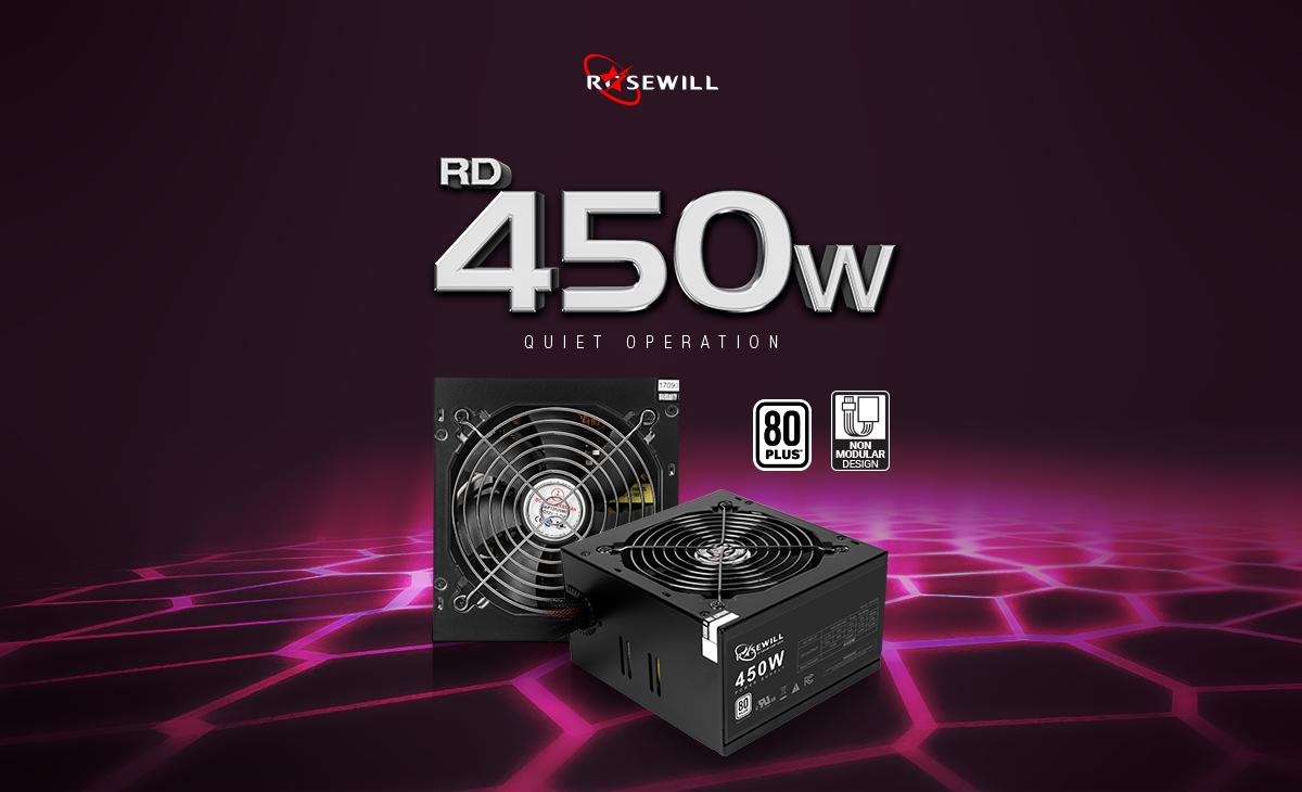 Rosewill Stallion Series RD450-2-SB 450W ATX V2 2 Power Supply - Newegg com