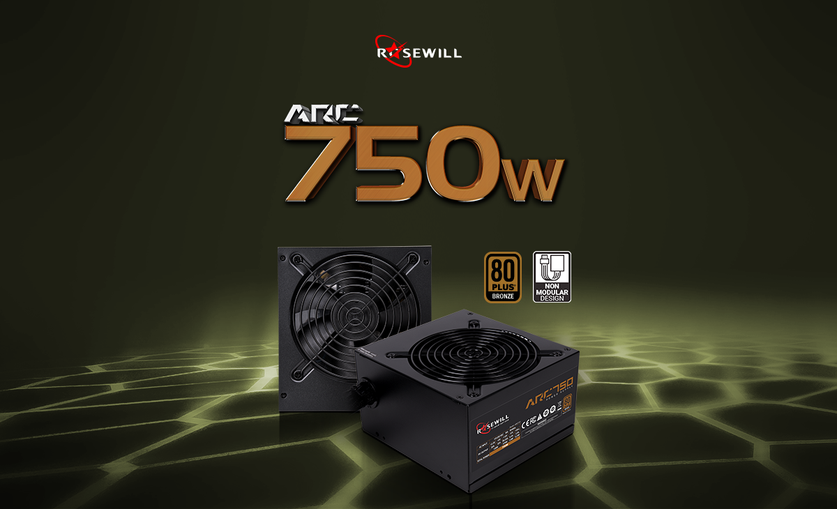 Rosewill ARC Series 750W 80 PLUS Bronze Certified Single +12V Rail Intel  4th Gen CPU SLI and CrossFire Ready Gaming Power Supply - ARC-750 -