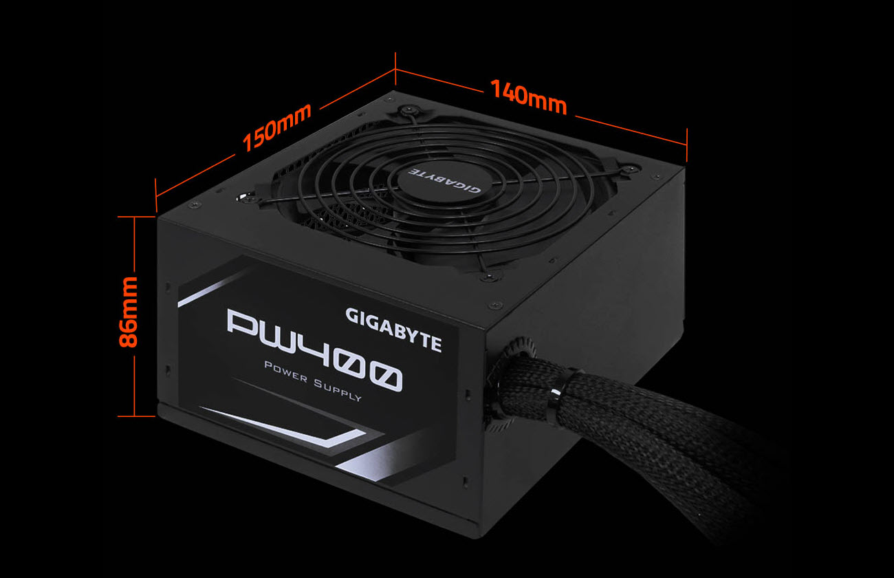 Gigabyte Pw400 400w 80 Plus Certified Power Supply Thermostat Wire 20 Gauge 8 250 Ft Vinyl Jacketneweggcom Dimensions